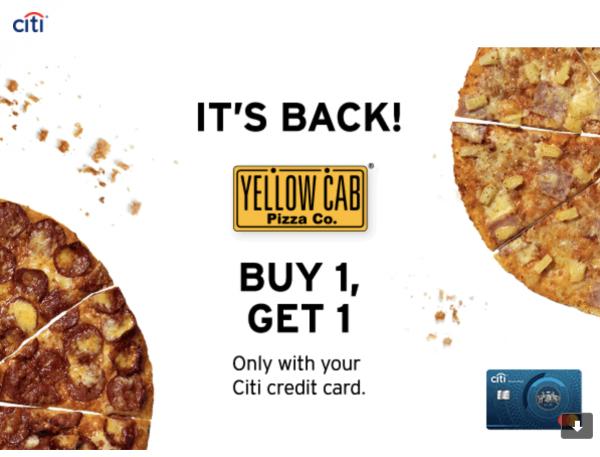 citibank yellow cab promo