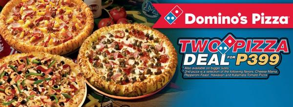 Two Pizza Deal Domino S Pizza Promos Deals Vozzog Com Where Food Lovers Go