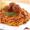 Spaghetti Bolognese with Meatballs.